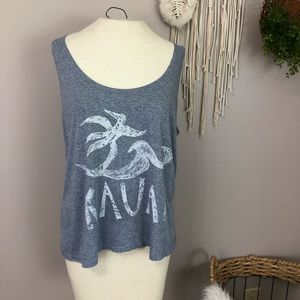 Tops - Honolua Wahine KAUAI Large Hawaiian tank top blue